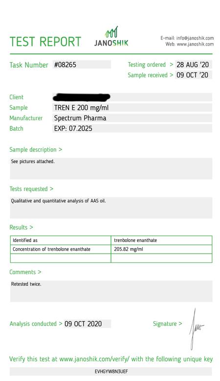 USA Domestic Trenbolone Enanthate Spectrum Pharma
